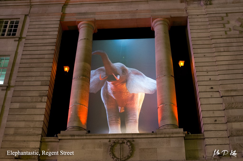 Elephantastic at Lumiere London 2016