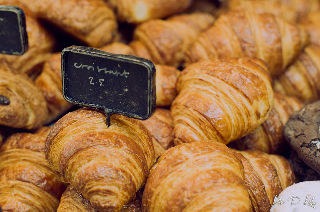 Croissants on sale at Fabrique in Notting Hill