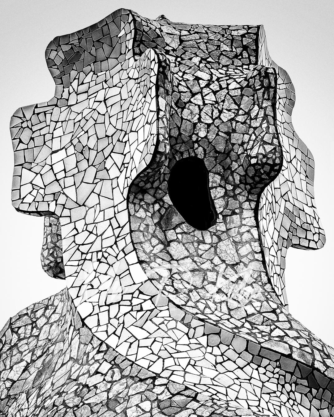 Chimney or Espanta Bruixes designed by Gaudi in Casa Mila