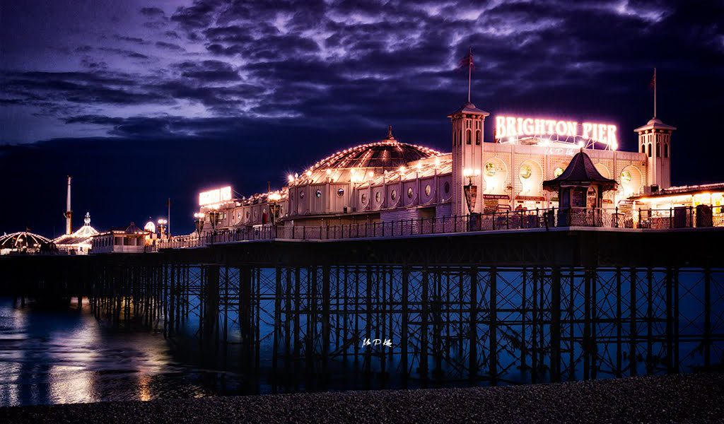 Purple sky over Brighton Pier