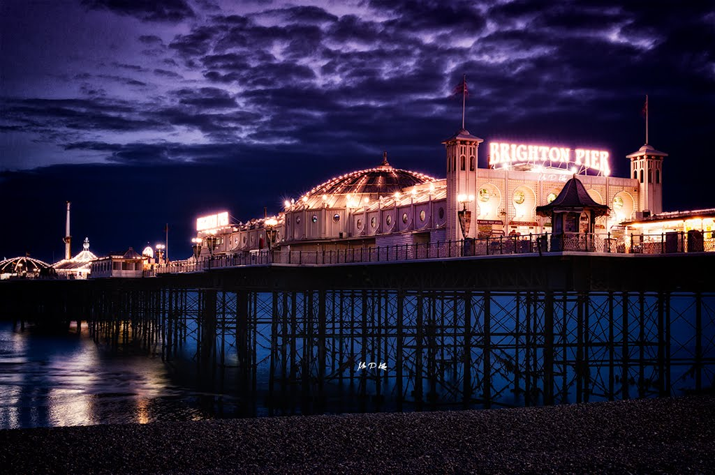 Purple sky over Brighton Pier