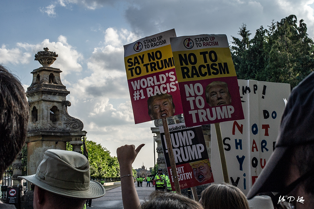 Protest outside Blenheim Palace Woodstock
